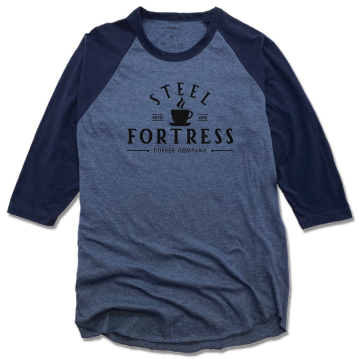 STEEL FORTRESS COFFEE | DENIM/NAVY 3/4 SLEEVE | LOGO