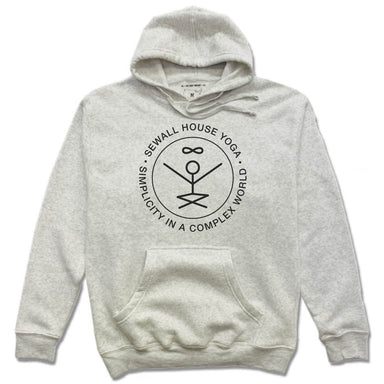 SEWALL HOUSE YOGA RETREAT | HOODIE | BLACK LOGO