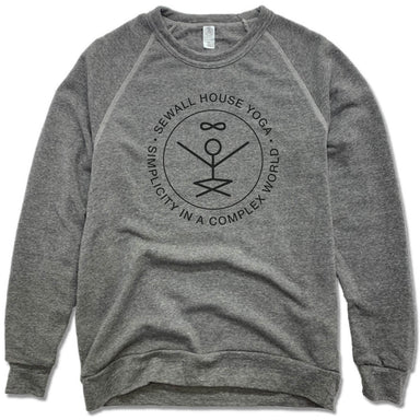 SEWALL HOUSE YOGA RETREAT | FLEECE SWEATSHIRT | BLACK LOGO