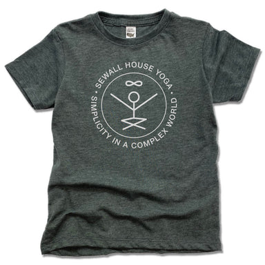SEWALL HOUSE YOGA RETREAT | KIDS TEE | WHITE LOGO