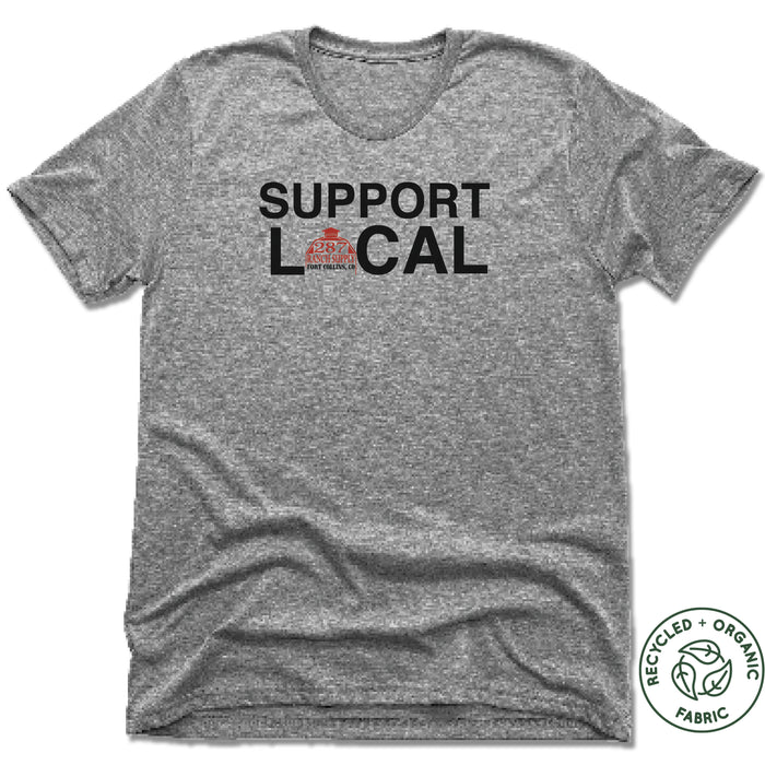 287 RANCH SUPPLY & BOUTIQUE | UNISEX GRAY Recycled Tri-Blend | SUPPORT LOCAL
