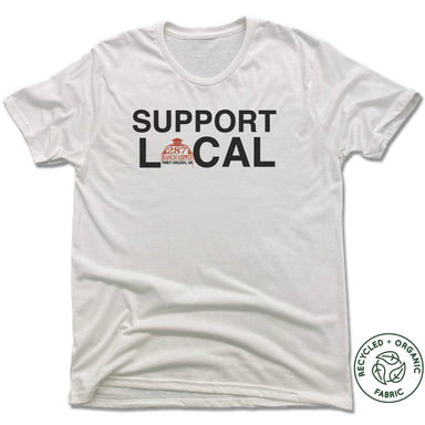 287 RANCH SUPPLY & BOUTIQUE | UNISEX WHITE Recycled Tri-Blend | SUPPORT LOCAL