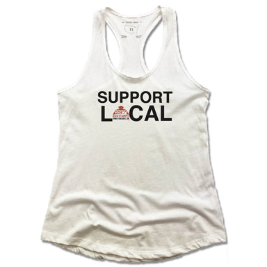 287 RANCH SUPPLY & BOUTIQUE | LADIES WHITE TANK | SUPPORT LOCAL