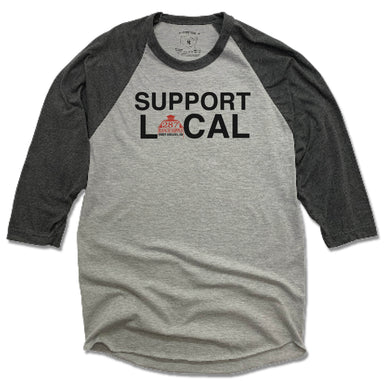 287 RANCH SUPPLY & BOUTIQUE | GRAY 3/4 SLEEVE | SUPPORT LOCAL