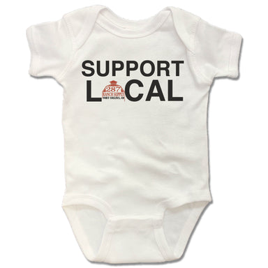 287 RANCH SUPPLY & BOUTIQUE | WHITE ONESIE | SUPPORT LOCAL