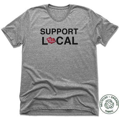 ALIBI PLAYERS | UNISEX GRAY Recycled Tri-Blend | SUPPORT LOCAL