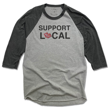 ALIBI PLAYERS | GRAY 3/4 SLEEVE | SUPPORT LOCAL