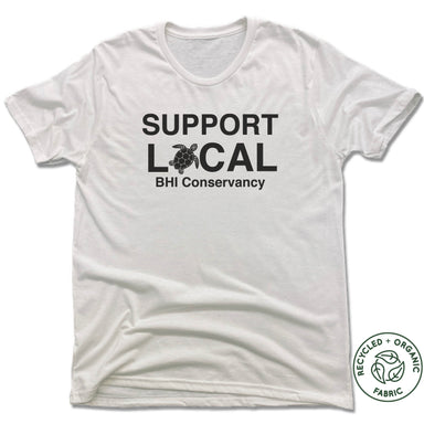 BHI CONSERVANCY | UNISEX WHITE Recycled Tri-Blend | SUPPORT LOCAL