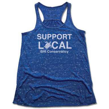 BHI CONSERVANCY | LADIES BLUE FLOWY TANK | SUPPORT LOCAL