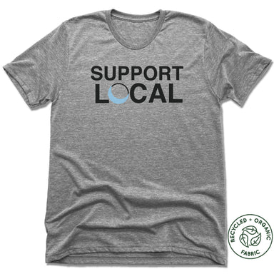 Blue Luna Yoga & Wellness | UNISEX GRAY Recycled Tri-Blend | SUPPORT LOCAL