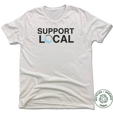 Blue Luna Yoga & Wellness | UNISEX WHITE Recycled Tri-Blend | SUPPORT LOCAL