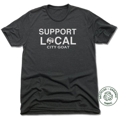 SUPPORT LOCAL | UNISEX BLACK Recycled Tri-Blend | CITY GOAT