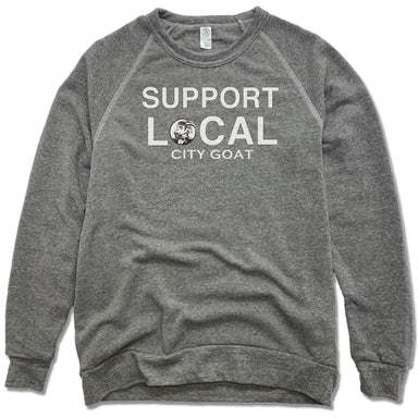 SUPPORT LOCAL | FLEECE SWEATSHIRT | CITY GOAT