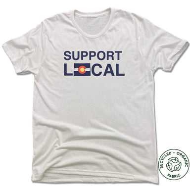 COLORADO | UNISEX WHITE Recycled Tri-Blend | SUPPORT LOCAL