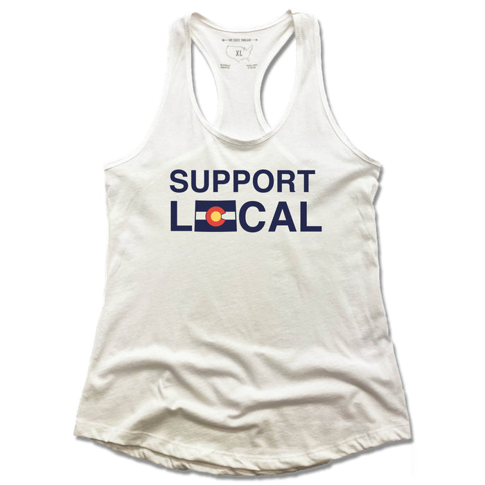 COLORADO | LADIES WHITE TANK | SUPPORT LOCAL