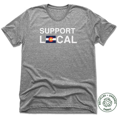 COLORADO | UNISEX GRAY Recycled Tri-Blend | SUPPORT LOCAL