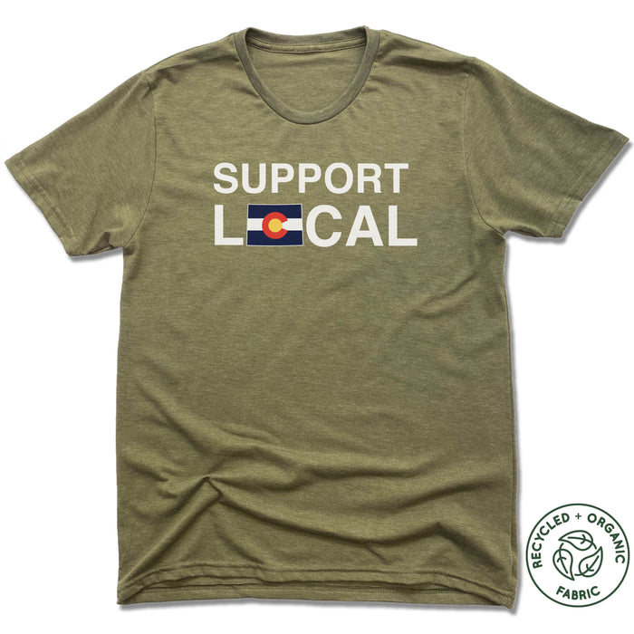 COLORADO | UNISEX OLIVE Recycled Tri-Blend | SUPPORT LOCAL