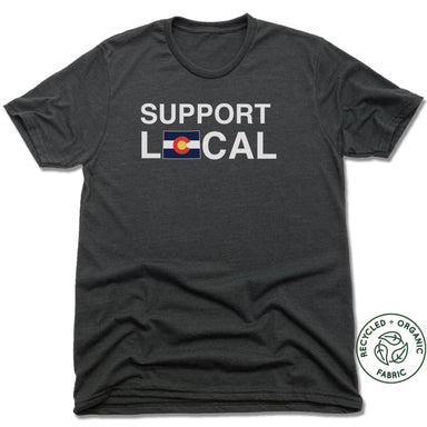 COLORADO | UNISEX BLACK Recycled Tri-Blend | SUPPORT LOCAL