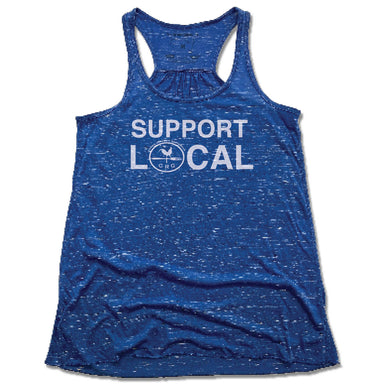 CROWN REPUBLIC | LADIES BLUE FLOWY TANK | SUPPORT LOCAL