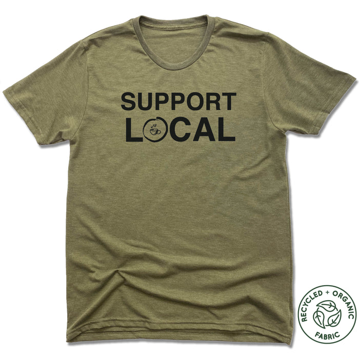 HOMETOWN CAFE | UNISEX OLIVE Recycled Tri-Blend | SUPPORT LOCAL