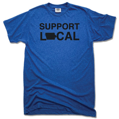 SUPPORT LOCAL IOWA | UNISEX BLUE TEE