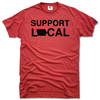 SUPPORT LOCAL IOWA | UNISEX RED TEE