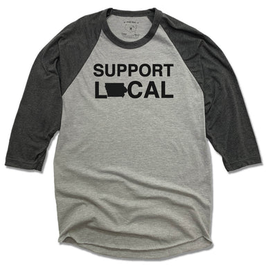 IOWA 3/4 SLEEVE | SUPPORT LOCAL | BLACK