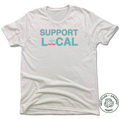 LEARNING THROUGH PLAY | UNISEX WHITE Recycled Tri-Blend | SUPPORT LOCAL