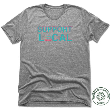 LEARNING THROUGH PLAY | UNISEX GRAY Recycled Tri-Blend | SUPPORT LOCAL