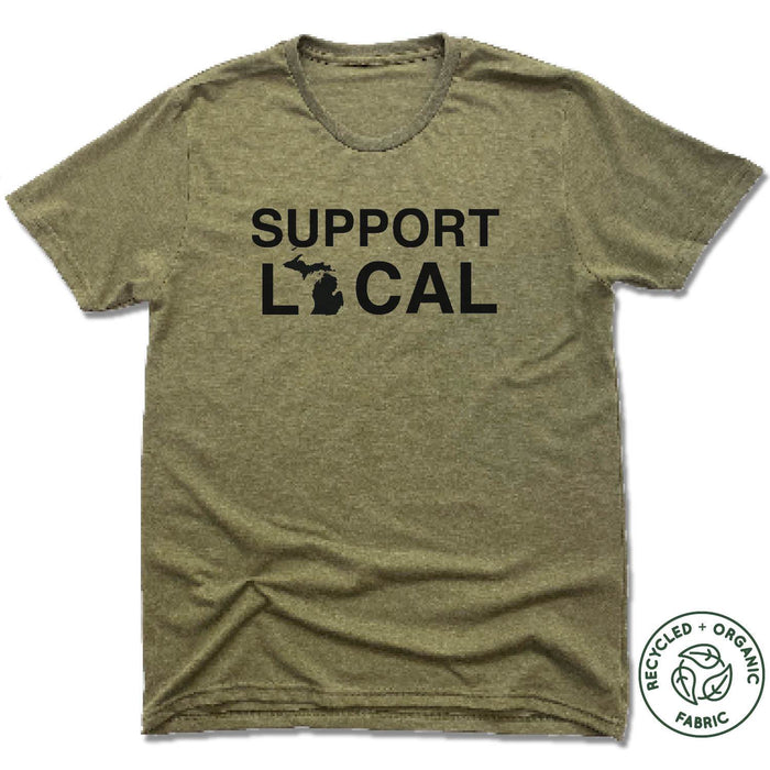 MICHIGAN | UNISEX OLIVE Recycled Tri-Blend | SUPPORT LOCAL