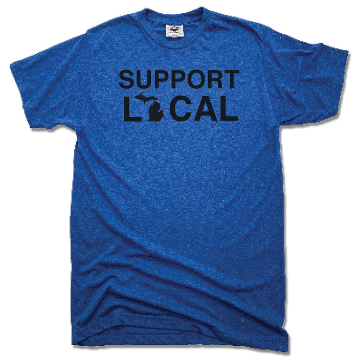 MICHIGAN | UNISEX BLUE TEE | SUPPORT LOCAL