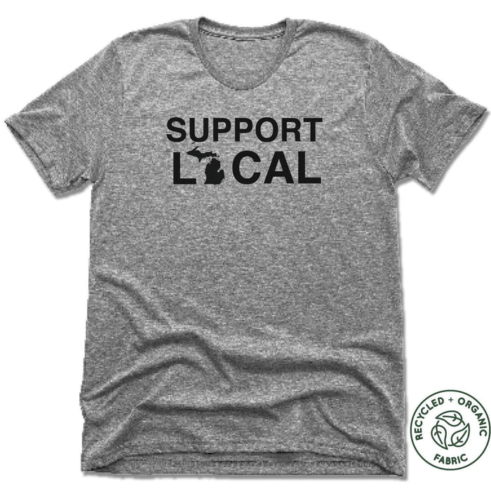 MICHIGAN | UNISEX GRAY Recycled Tri-Blend | SUPPORT LOCAL