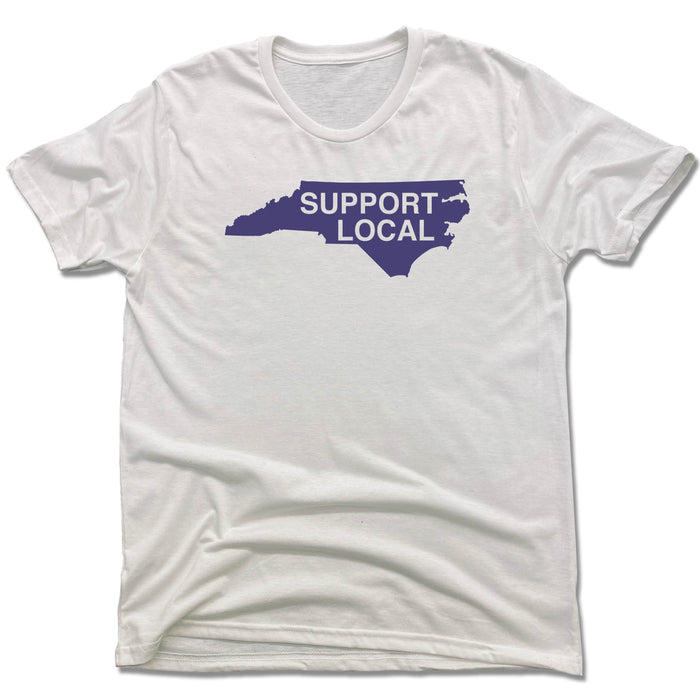 NORTH CAROLINA | UNISEX WHITE Recycled Tri-Blend | SUPPORT LOCAL