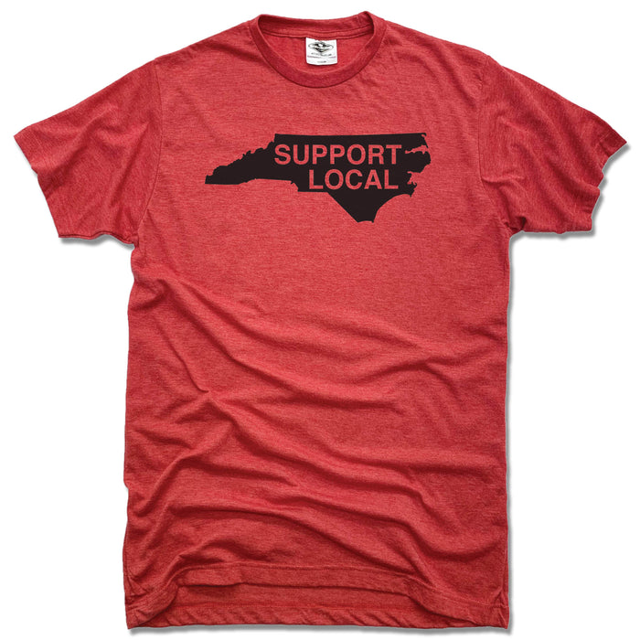 NORTH CAROLINA | UNISEX RED TEE | SUPPORT LOCAL