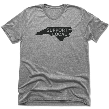 NORTH CAROLINA | UNISEX GRAY Recycled Tri-Blend | SUPPORT LOCAL