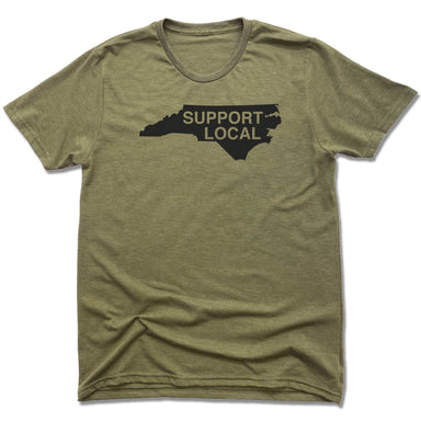 NORTH CAROLINA | UNISEX OLIVE Recycled Tri-Blend | SUPPORT LOCAL