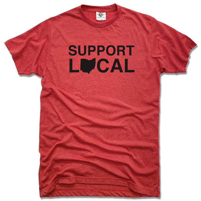 Support Local Ohio | UNISEX RED TEE