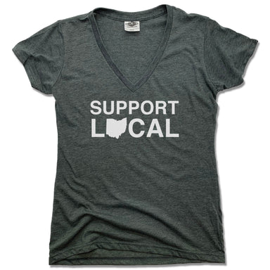 Support Local Ohio | LADIES V-NECK