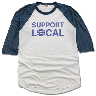 SUPPORT LOCAL | NVY 3/4 SLEEVE | OCEAN SPRINGS