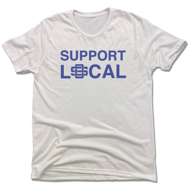 SUPPORT LOCAL | UNISEX WHITE Recycled Tri-Blend | OCEAN SPRINGS