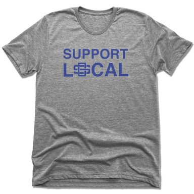 SUPPORT LOCAL | UNISEX GRAY Recycled Tri-Blend | OCEAN SPRINGS