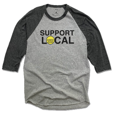 SUNRISE BOOKS | GRAY 3/4 SLEEVE | SUPPORT LOCAL
