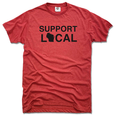 Support Local Wisconsin | UNISEX RED TEE