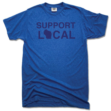 Support Local Wisconsin | UNISEX BLUE TEE