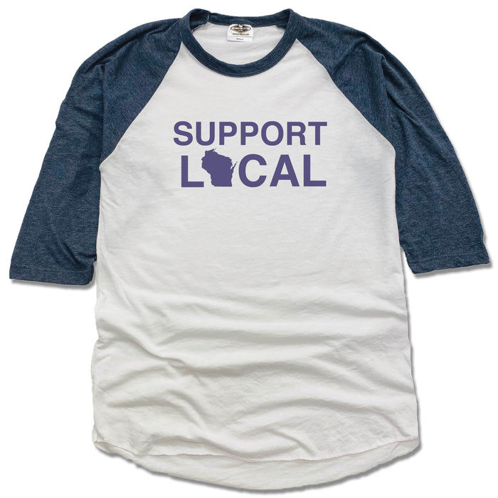 Support Local Wisconsin | 3/4 Sleeve