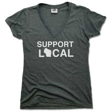 Support Local Wisconsin | LADIES V-NECK