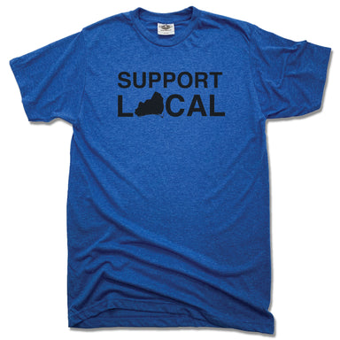BRUNSWICK | UNISEX BLUE TEE | SUPPORT LOCAL