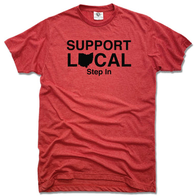 SUPPORT LOCAL OHIO  | UNISEX RED TEE | STEP IN