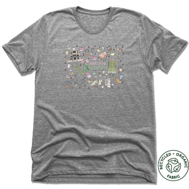 SWEET PEAS PLAY CAFE  | UNISEX GRAY Recycled Tri-Blend | MURAL