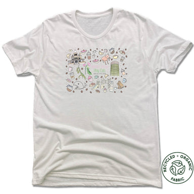 SWEET PEAS PLAY CAFE  | UNISEX WHITE Recycled Tri-Blend | MURAL